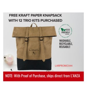 ! LNZ Kraft Paper Knapsack BUY 12 TRIO KITS HD2020