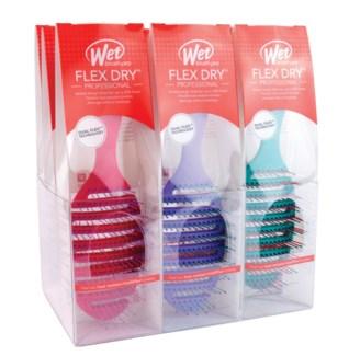 MKW 9pc Flex Dry Brush Display OVAL ZWP800FLEXINT