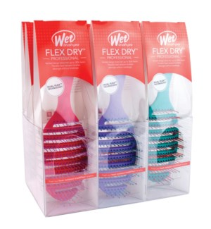 WB 9pc Flex Dry Brush Display OVAL ZWP800FLEXINT