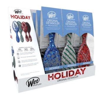 * MKW 9pc HOLIDAY Wet Brush Display HD18