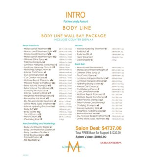 ! Moroccanoil Body Wall Bay Intro