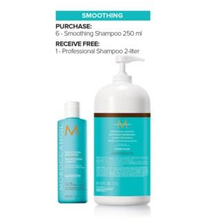 ! MOR 6+2Ltr Smoothing Shampoo MJ19
