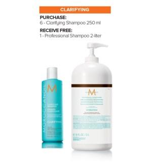 ! MOR 6+2Ltr Clarifying Shampoo MJ19