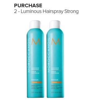 ! 1+1 330ml MOR Luminous STRONG Finish HairSpray MJ19