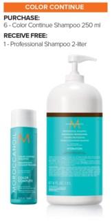 ! 6+2Ltr MOR Color Continue Shampoo MJ19