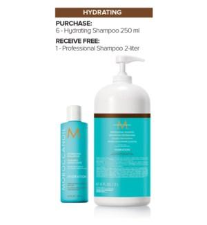 ! MOR 6+2Ltr Hydrating Shampoo MJ19