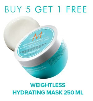 ! 5+1 250ml MOR Weightless Hydratng Mask 8.5oz MA2021