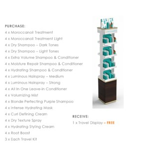 ! MOR Travel Display BUY $800 SELECTED Travel Products MA2021