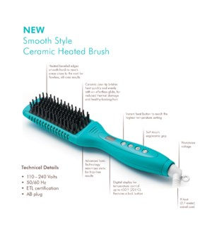 NEW MOR SMOOTH STYLE CERAMIC HEATED BRUSH
