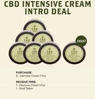 CBD 6pc Intensive Cream Display
