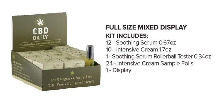 CBD Full-Size Display 12Serum + 10Cream