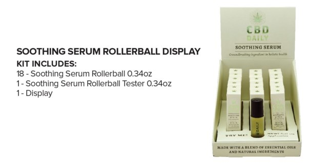CBD 18pc Serum Roller Ball Display