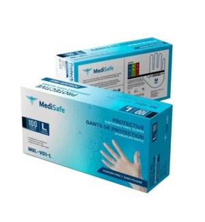 PPE LARGE Vinyl MediSafe Disposable Gloves