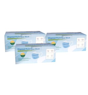! 3pks FOR $ 75.00 Disposable Protective Masks - Box of 50