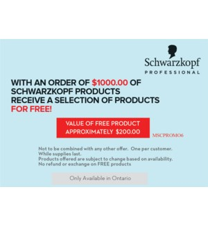 ! Special Free good offer FREE GOODS VALUE $340-  with the purchase of $1000.00 MA2021 ONE PER SALON