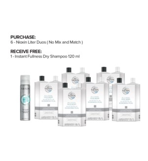 !  FREE NIOXIN 120ml Instant Dry Shampoo BUY 6 LITER DUO ND2020