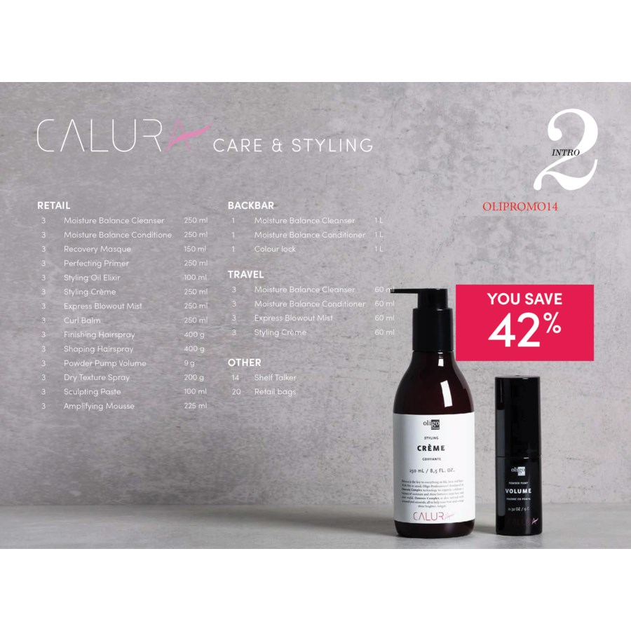 ! OLIGO CALURA Care & Styling Ensemble #2