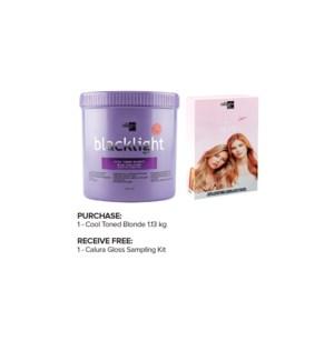 ! OLIGO Cool Toned Blonde Powder 1.13kg + CALURA Gloss Sample Kit MA2020
