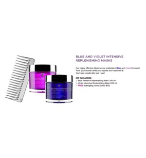 OLIGO 200ml Blue & Violet Intensive Replenishing Mask + Free Detangling Comb MA2021