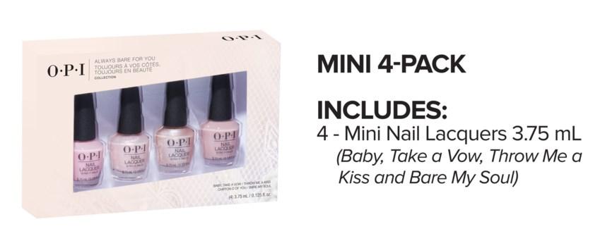 4pc ALWAYS BARE Nail Mini Pack MA19