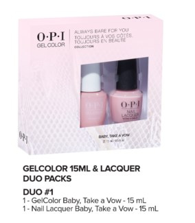 ALWAYS BARE Gelcolor + Lacquer Duo#1 MA19