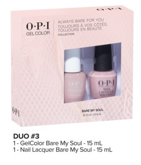 ALWAYS BARE Gelcolor + Lacquer Duo#3 MA19