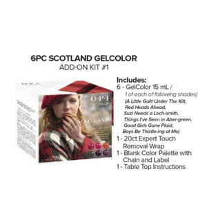 6pc SCOTLAND Gelcolor Add On Kit#1 AUG 2019