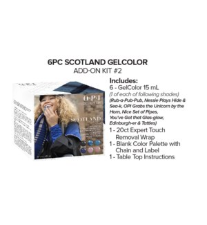 6pc SCOTLAND Gelcolor Add On Kit#2 AUG 2019