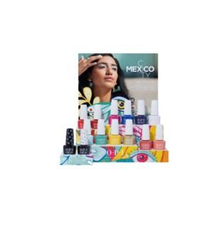 *CN 14PC MEXICO Gelcolor Salon Counter Display FEB 2020