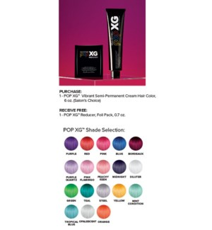 ! FREE 10pk POP XG Reducer Direct Dye Corrector BUY 1 POP XG COLOR JF2020