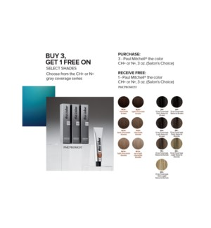 3+1 PM Color CH+ & N+ Series JF2020 SALONS CHOICE