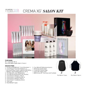 ! Crema XG Demi Salon Kit CHOOSE 85 CREMA XG COLOR JA2020