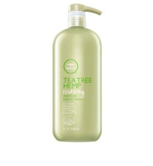 @ 1Ltr Tea Tree Hemp Restoring Shampoo & Body Wash PM