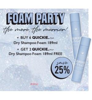 !  6+1 DM Quickie Me Dry Foam Shampoo MA2020