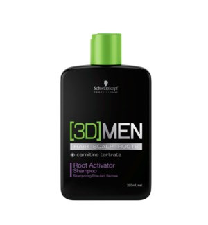 3D Men 250ml Root Activator Shampoo 8.5oz