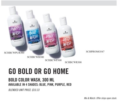 3+1 Bold Color Wash MIX & MATCH MA19