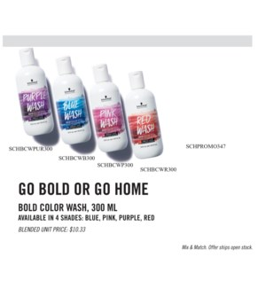 3+1 Bold Color Wash MIX & MATCH JA19