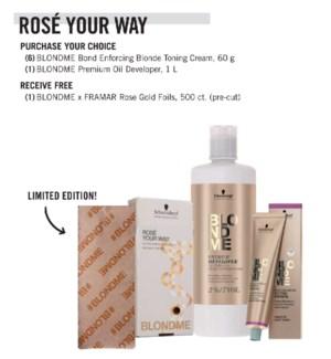 ! Buy 6 BLONDEME Toning Cream Get Free Foil JA21 JA2021