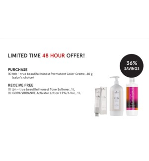 ! Free Litre TBH Tone Softner & Vibrance Activator Lotion 1.9% w/ Purchase of 6 TBH Color