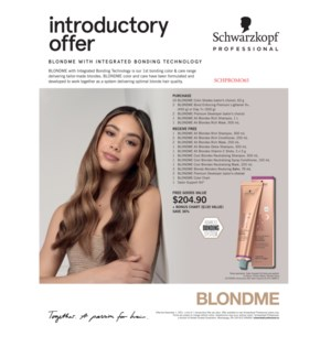 ! BM BLONDME Year Round Intro (CHOOSE AND PAY FOR 20COLOR) CHOOSE 12 RETAIL FREE