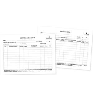 Schwarzkopf Tint Client Record Card 25pk