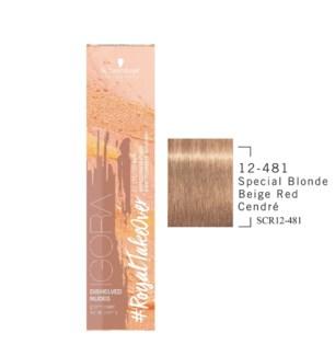 12-481 Special Blonde Beige Red Cendre RTO Igora Royal