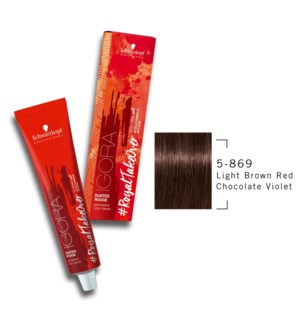 * 5-869 Light Brown Red Chocolate Violet RTO Igora Royal