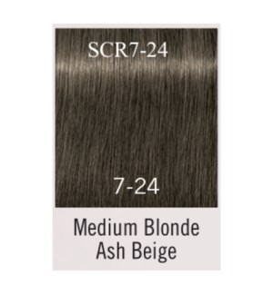 7-24 Medium Blonde Ash Beige Igora Royal MUTED DESERT