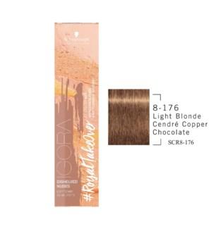 8-176 Light Blonde Cendre Copper Chocolate RTO Igora Royal