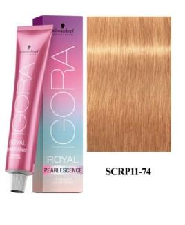 11-74 Ultra Blonde Plus Tangerine Pearlescence Igora Royal