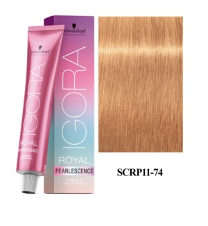 * 11-74 Ultra Blonde Plus Tangerine Pearlescence Igora Royal