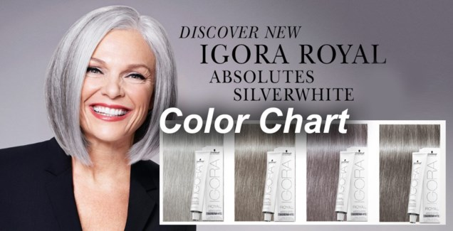 New Igora Royal Absolute Silverwhite Consultation Color Chart