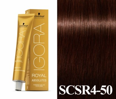 New 4-50 Dark Brown Gold Natural Absolute Igora Royal
