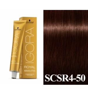 New 4-50 Dark Brown Gold Natural Absolute Igora Royal